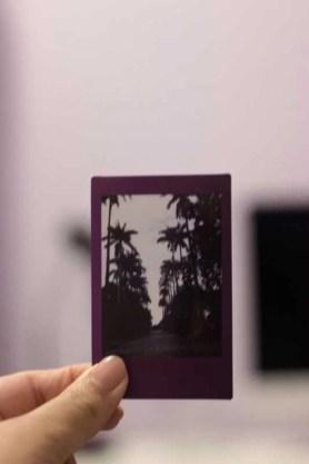 Filme Instax Mini 9 estourado