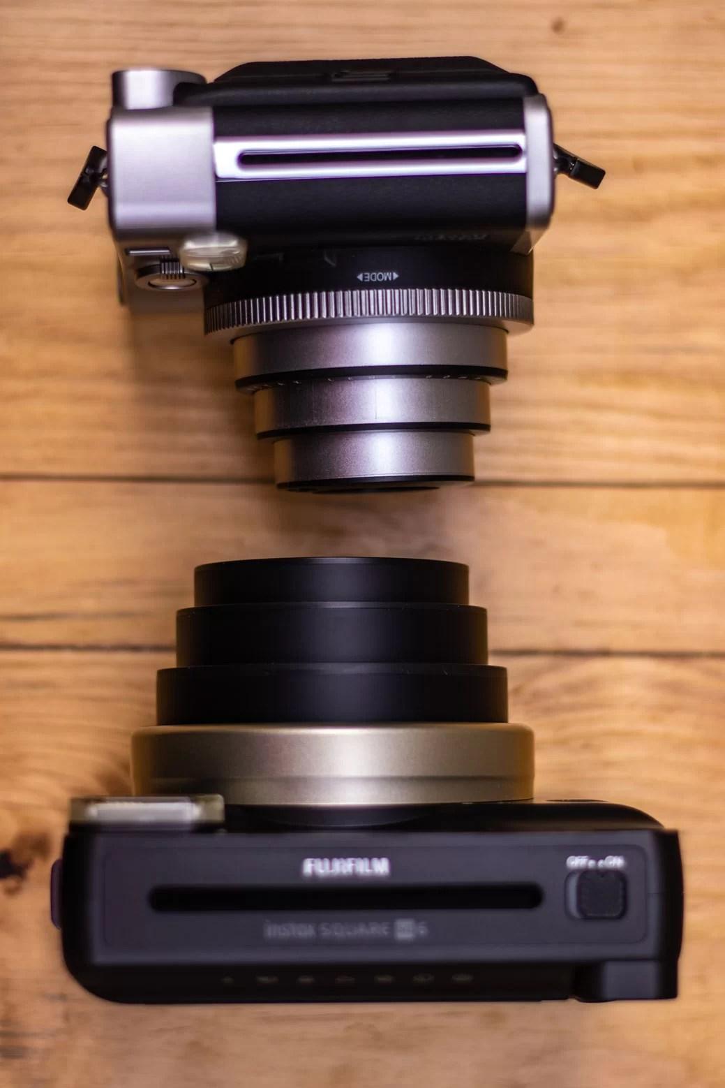 Comparando as lentes das Instax