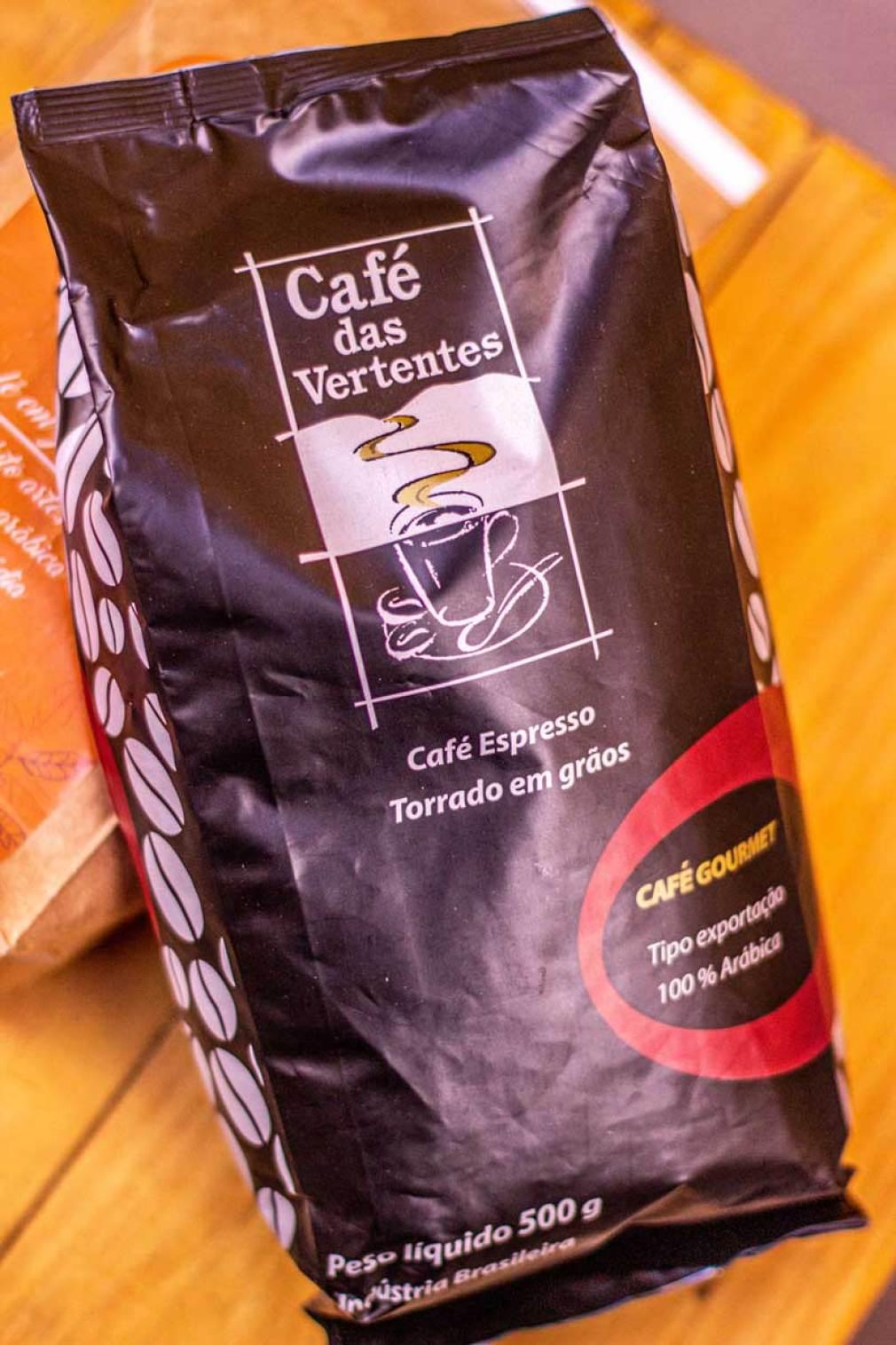 Café em grão de supermercado