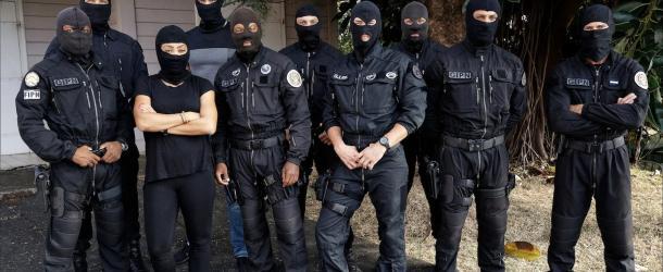 Lucie Ignace invitée des policiers du GIPN