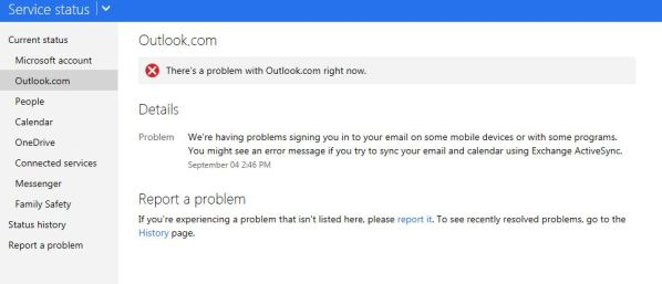 Outlook Server Offline