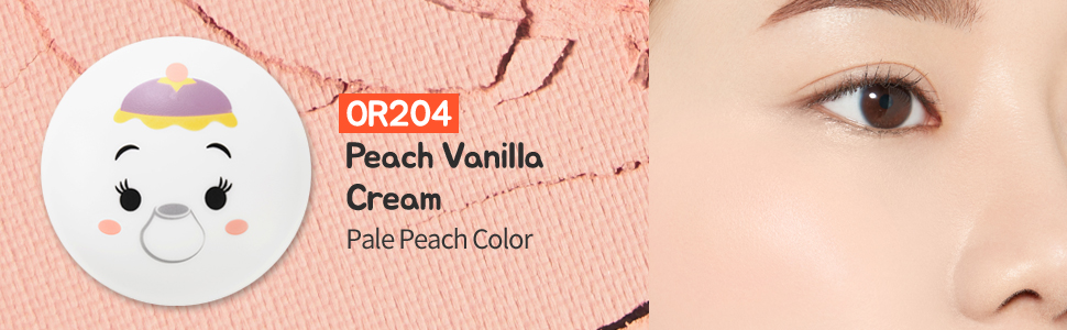 Lovely Cookie Blusher #OR204 Peach Vanilla Cream (Pale Peach Color)