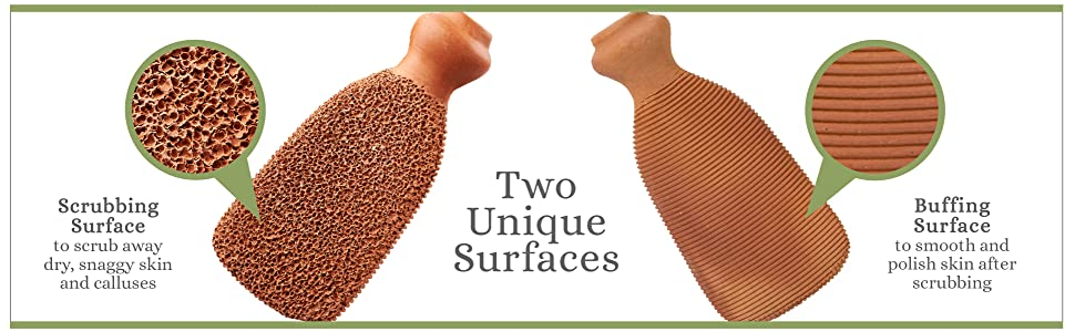 two unique surfaces 2 sided scrubbing buffing polish skin nail buffer cleaner deadskin scraping