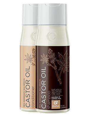 Castor oil shampoo conditioner set