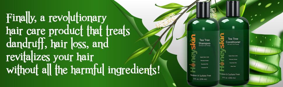 tea tree oil shampoo conditioner hair care set aloe vera manuka honey