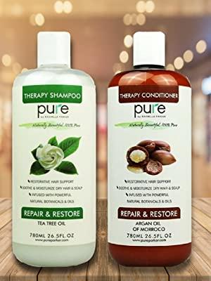 PURE Shampoo and Conditioner Set, HUGE 26.5 oz. Each Extra Strength Formula