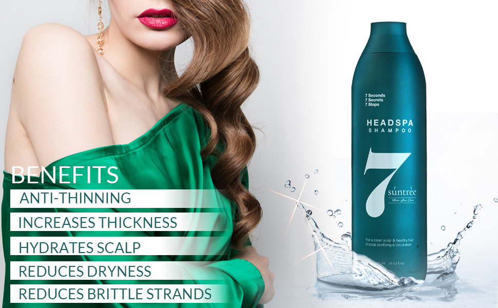 Anti Thinning Increases Thickness Hydrates Scalp Reduces Dryness Reduces Brittle Strengths shampoo