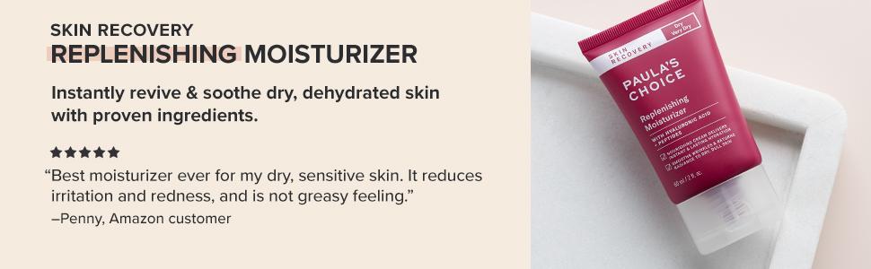 Paula's Choice Skin Recovery Replenishing Moisturizer provides hydration for normal skin, dry skin.