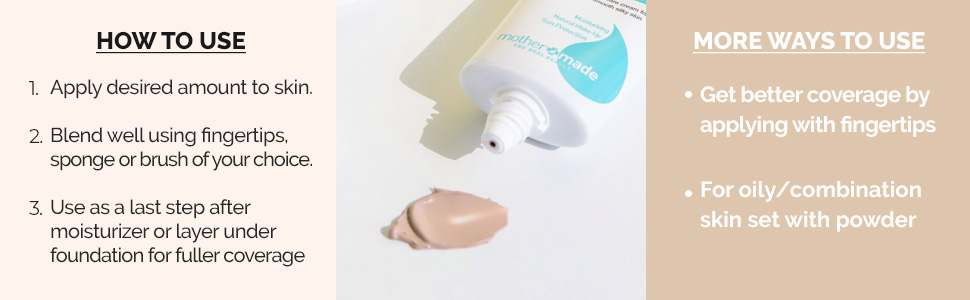 mothermade mother made cc cream tinted moisturizer face sunscreen spf organic anti-aging