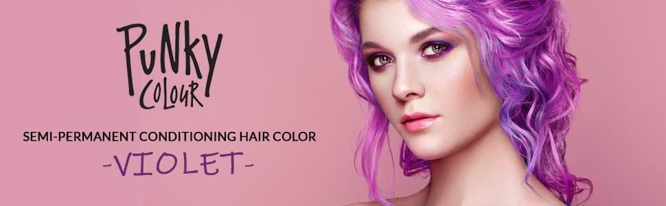 Punky Colour Semi Permanent Hair Color, punky violet hair color, punky violet