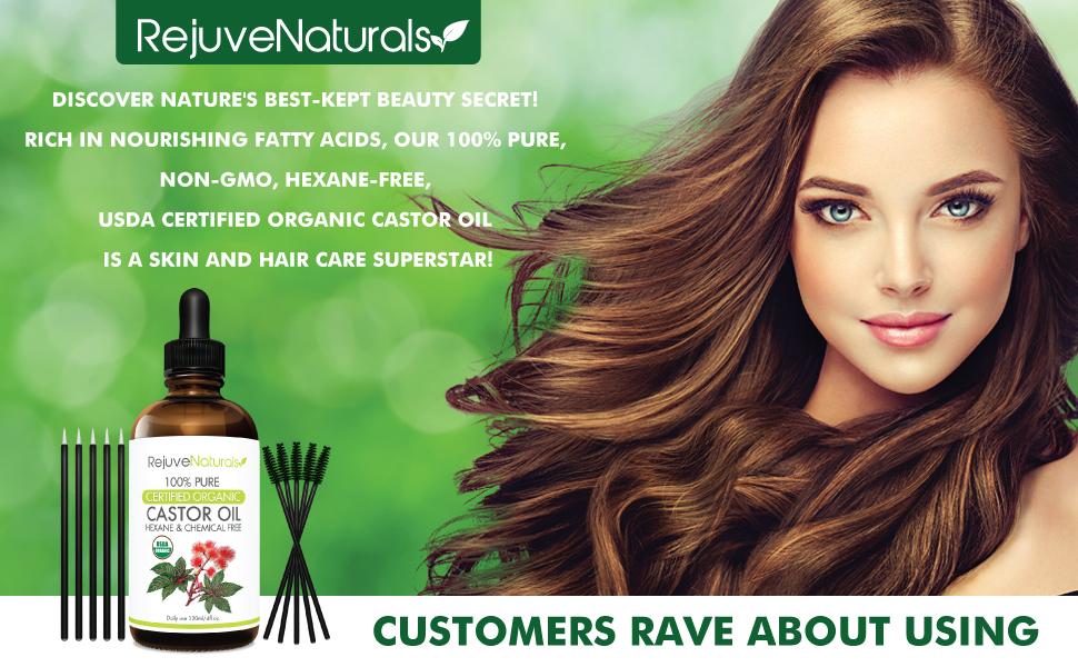 Castor oil for hair growth  Castor oil for eyelashes, Castor oil organic cold pressed, for hair