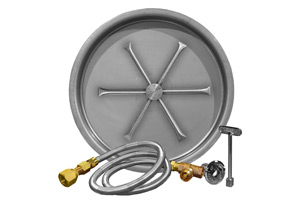 stainless-steel-drop-in pan-match-lit-match-throw-listed-burning-spur-burner-bottom-view-fireboulder-fire-boulder-burning-spur-19in-25in