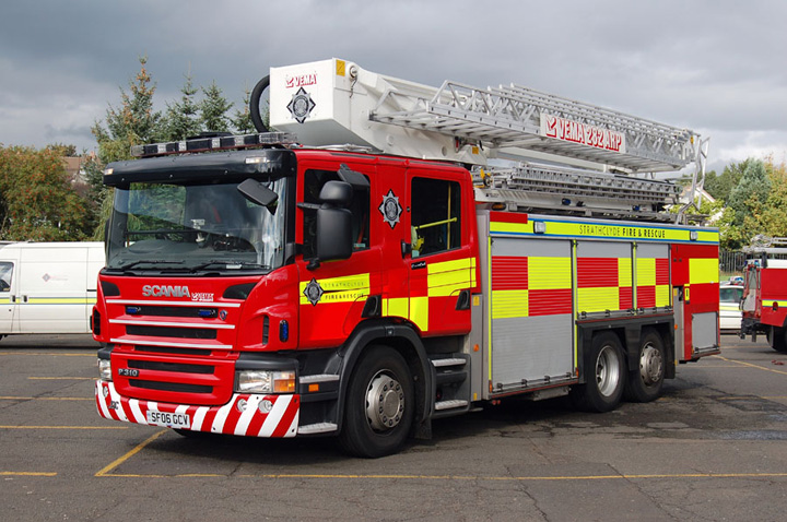 Fire Engines Photos  ARP Strathclyde Scania front