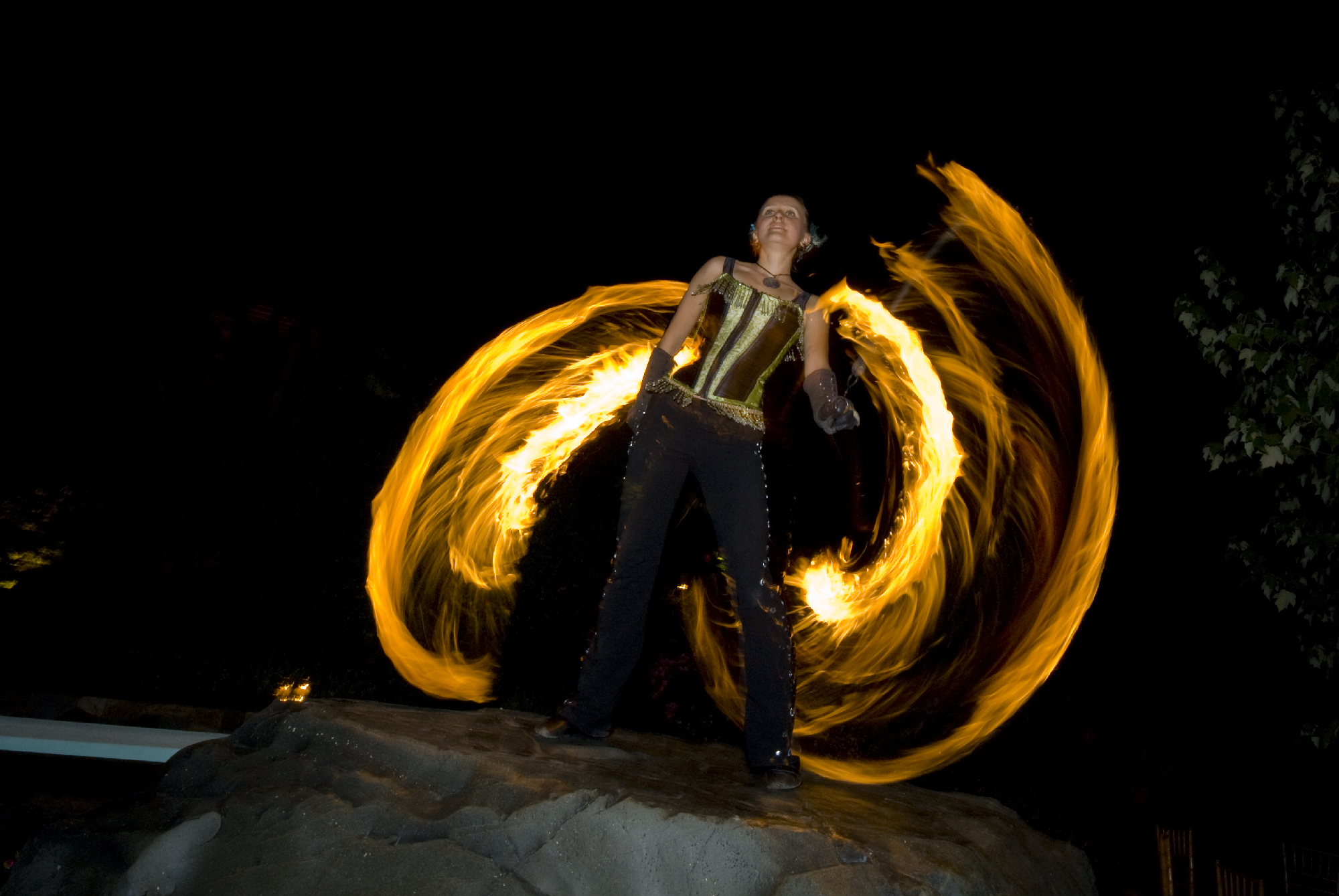Elegant Fire  Unique Entertainment for Wedding Reception  Fire Pixie