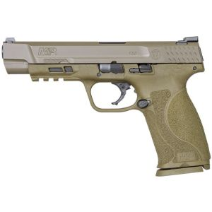 """Smith & Wesson M&P 2.0 9mm 5"""" Barrel 17 RDs Flat Dark Earth without Safety"""