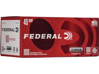 Federal Champion Ammunition 40 S&W 180 Grain Full Metal Jacket Aluminum Case