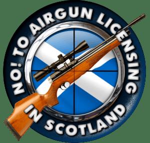 No to Airgun Licensing in Scotland campaign logo
