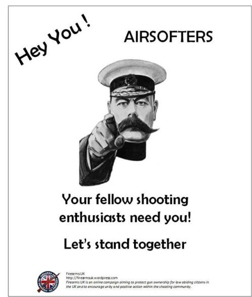 A Firearms UK meme designed to unite airsoft shooters and firearms owners