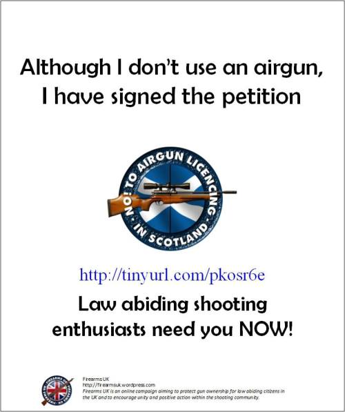 An important Firearms UK campaign poster
