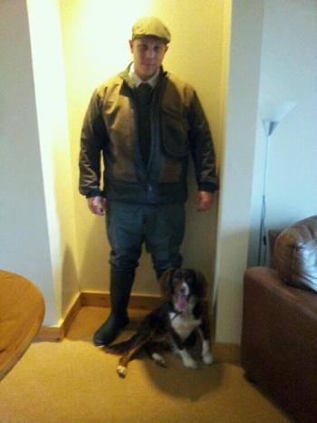 Brett and his Springer/Collie Cross.