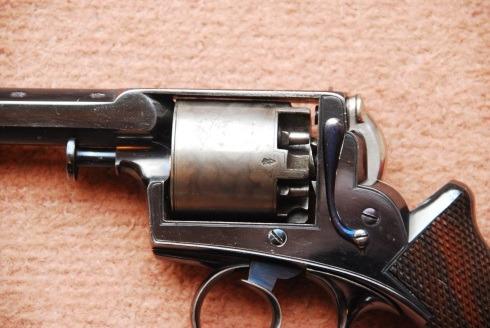 Close up of Adams Revolver