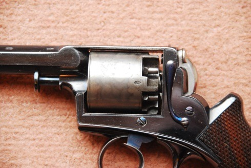 Close up of Adams Revolver