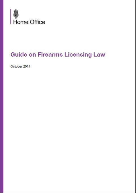 Guide on Firearms Licensing Law – October 2014
