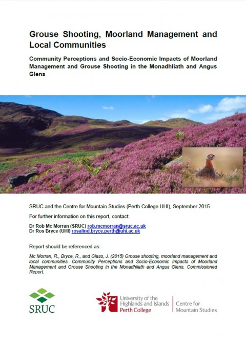 Grouse Shooting, Moorland Management and Local Communities