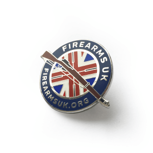 Firearms-UK Hard Enamel Badge, Lapel Pin
