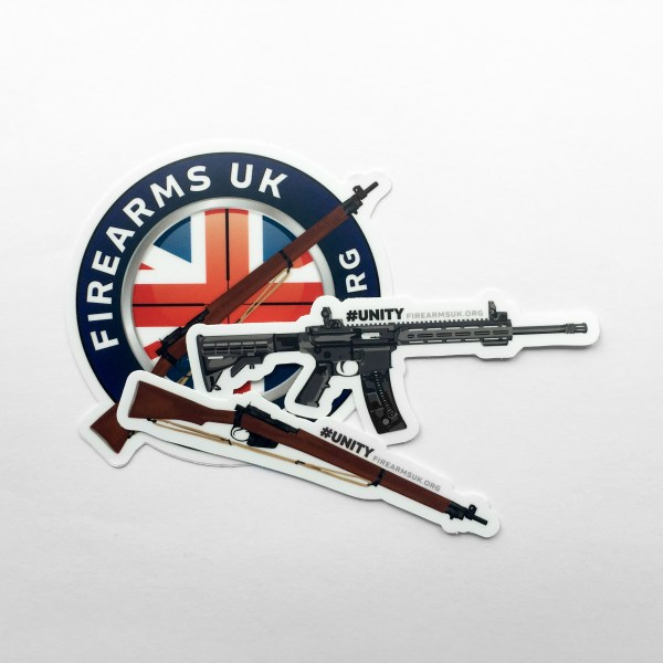 Firearms-UK Stickers - 3 Pack