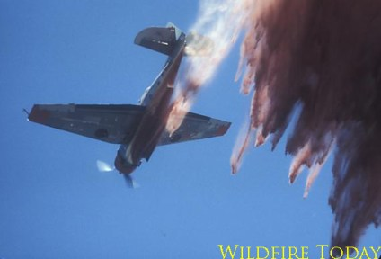 TBM dropping on a fire in southern California, 1972