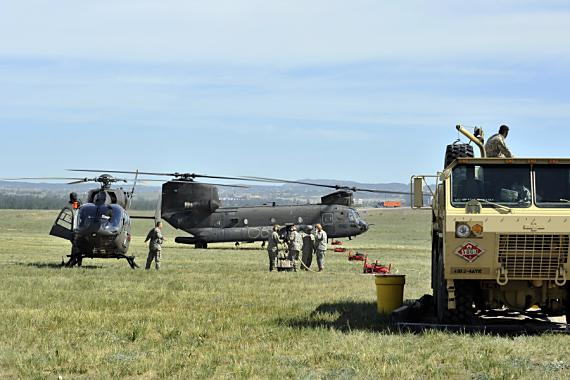 firefighting military helicopters