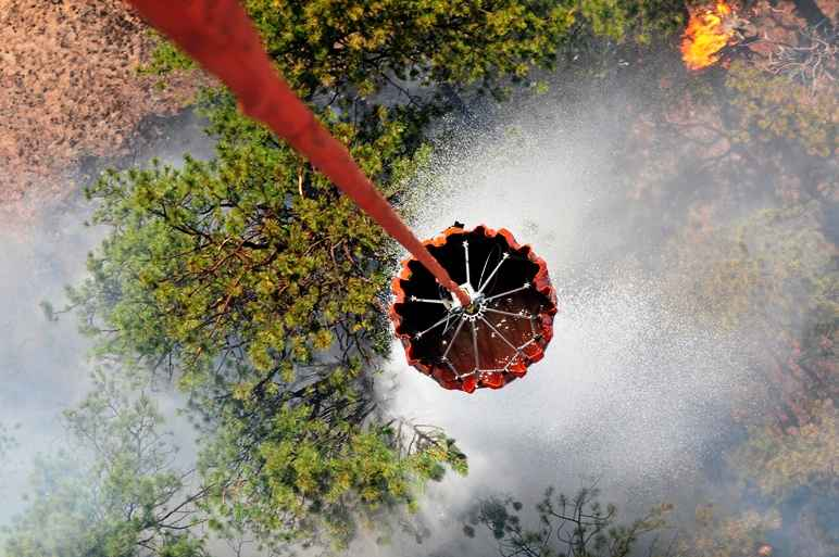 Black Forest Fire helicopter drop