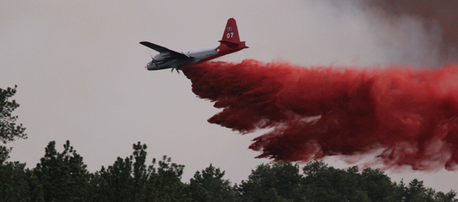 Tanker 07 on the Myrtle Fire, 2012