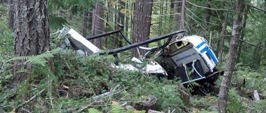 Logging helicopter crash Oregon