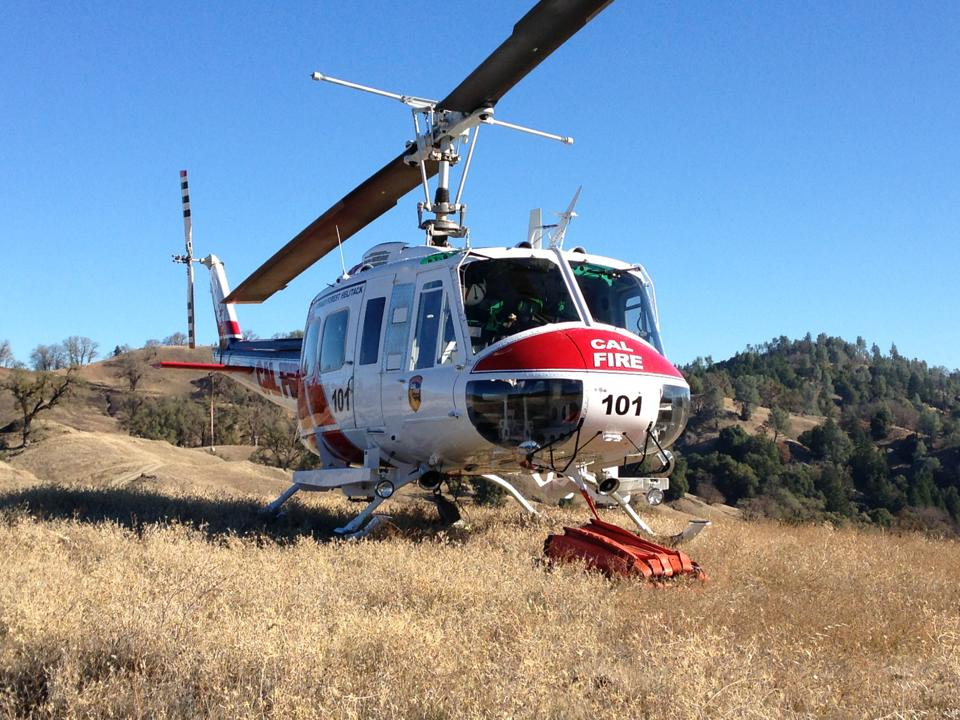 CAL FIRE helicopter 101 prescribed fire