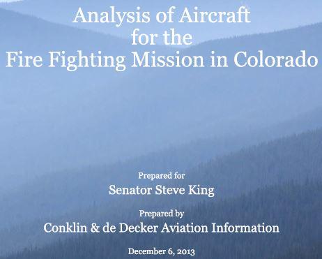 Colorado Air tanker study cover