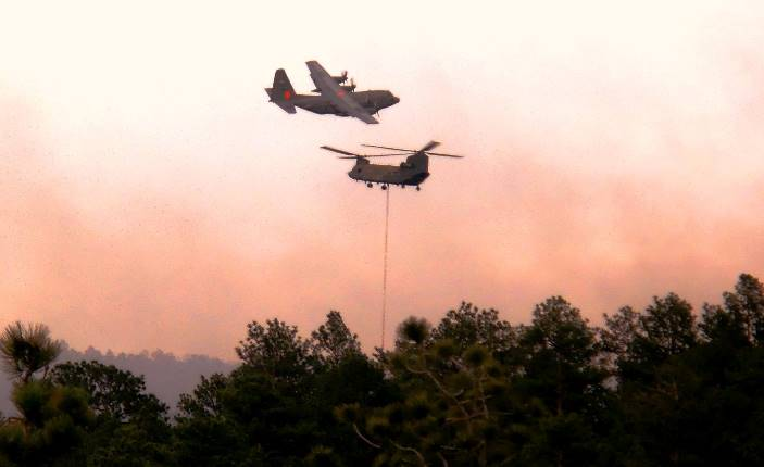 MAFFS and Chinook on Black Forest Fire June 12, 2013