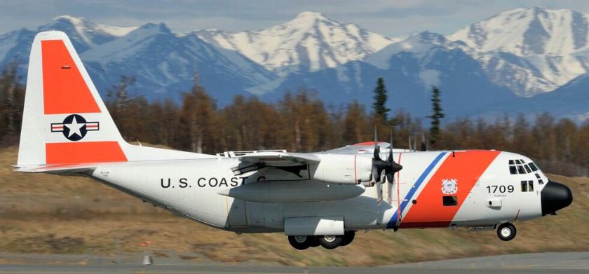 A Coast Guard C-130H, No. 1709