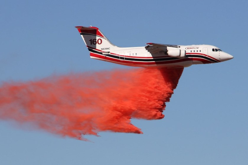 Tanker 160 retardant grid test December 13, 2013