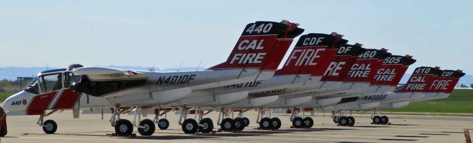 CAL FIRE's aircraft lineup for 2016