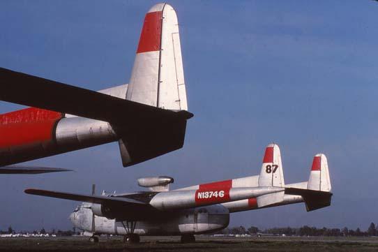 Fairchild C119L air tankers