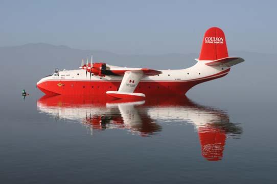 Coulson's Martin Mars docked at Lake Elsinore