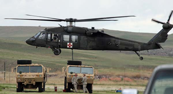 National Guard helicopter wildfire training