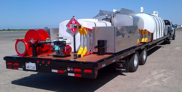Air Spray mobile retardant trailer