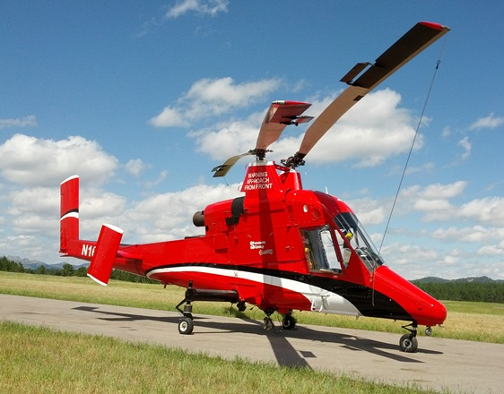 K-MAX helicopter at Custer