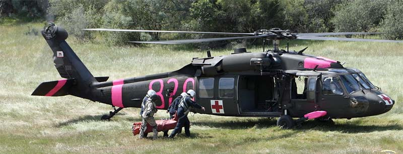 California National Guard helicopter crew training wildifire