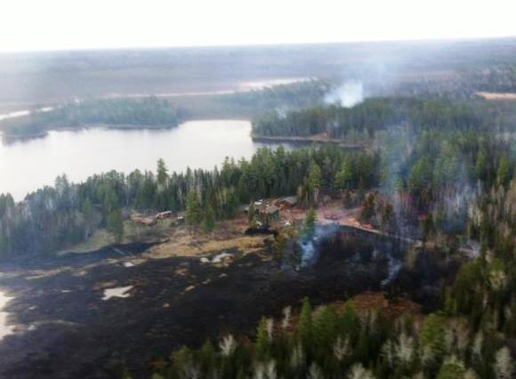 Sand Lake Complex of fires