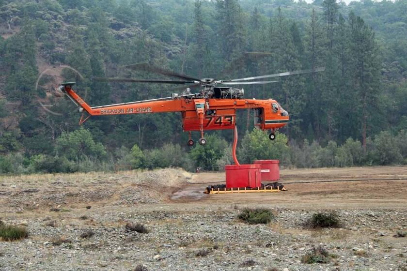 Helicopter 743, an Erickson Air-Crane
