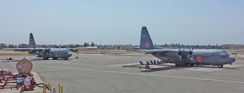 air tankers at Fresno 9-1-2015